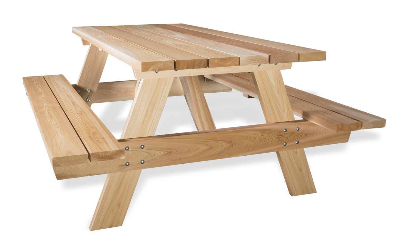Wonderful Cedar Picnic Table