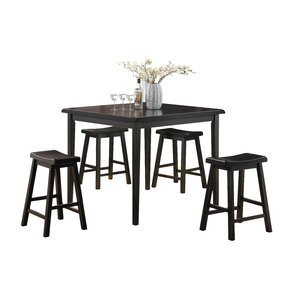 Gaucho 5 Piece Counter Height Dining Set by ACME Furniture