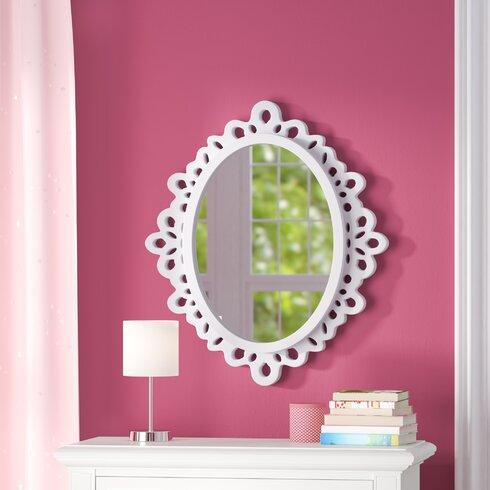 Viv + Rae Oval Wood Lace Wall Mirror | Wayfair