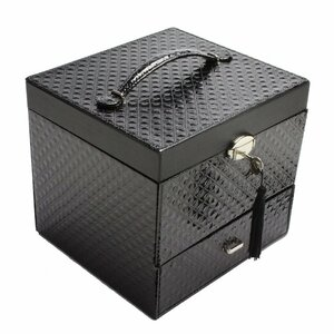Leatherette Jewelry and Cosmetic Display Box