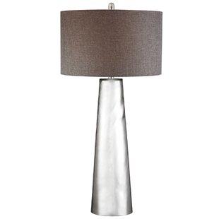 glass cylinder lamp mercury solorzano tapered cylinder mercury glass led 375 lamp wayfair