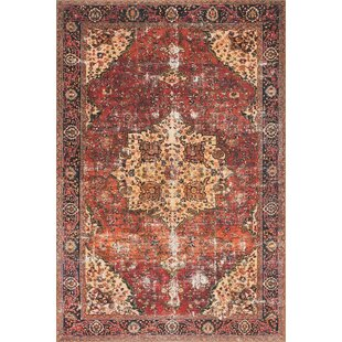 Raul Red Navy Area Rug