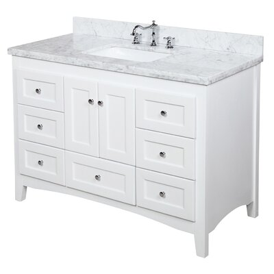"Bathroom Vanities Set kbc bella 48"" single bathroom vanity set & reviews 