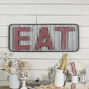 Eat Metal Sign Wall Décor