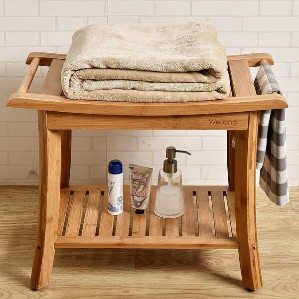 Bamboo Shower Seat | Wayfair