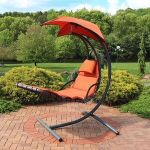 Shelbi Hanging Chaise Lounger with Cushion