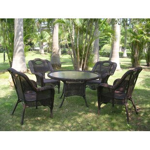 Attractive 5 Piece Wrought Iron Patio Set | Wayfair