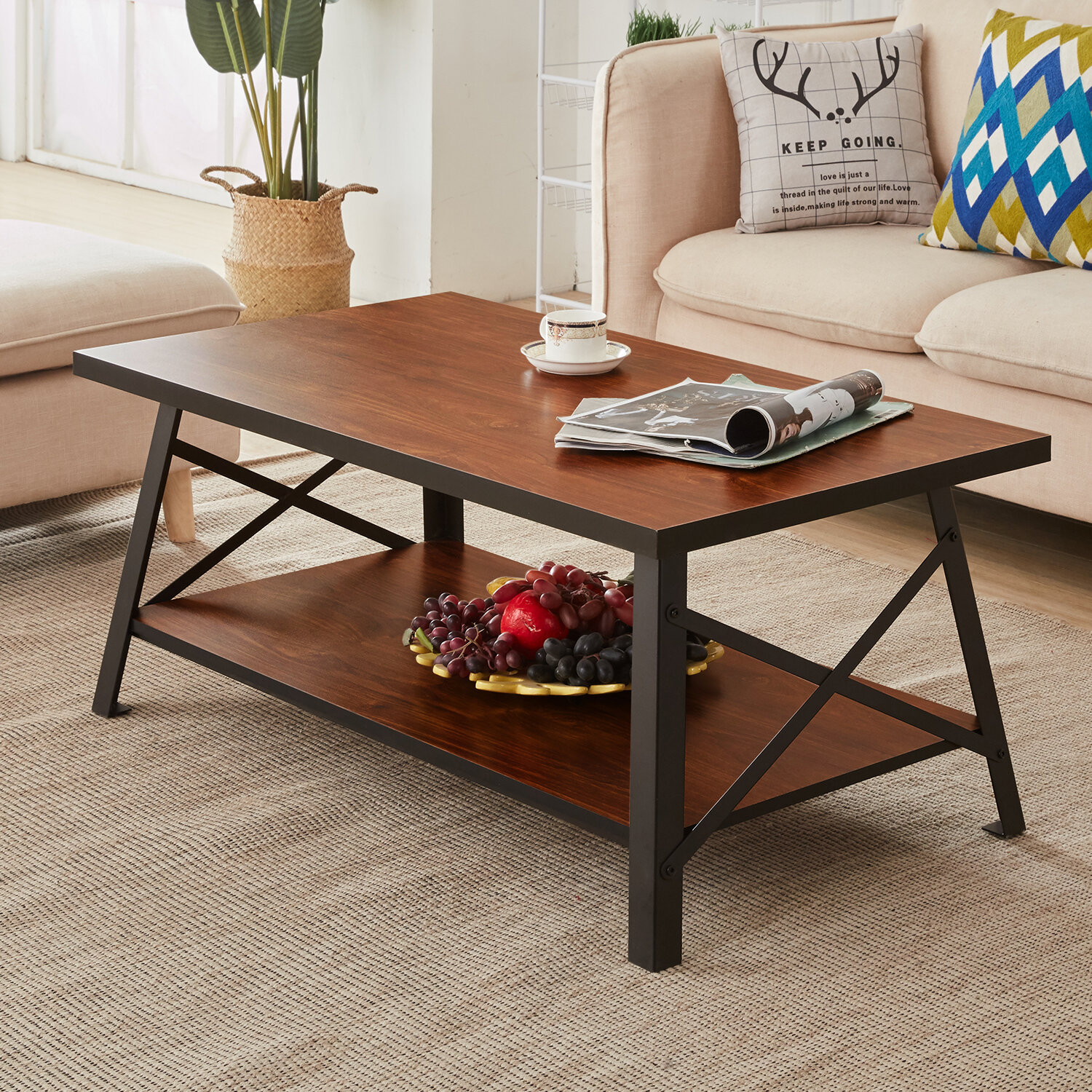 Drew Solid Wood Coffee Table