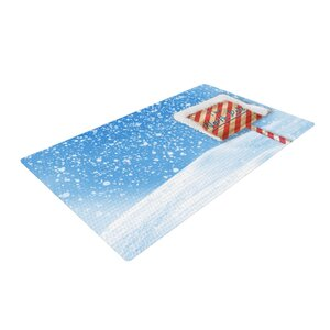 Snap Studio North Pole Snow Blue/White Area Rug