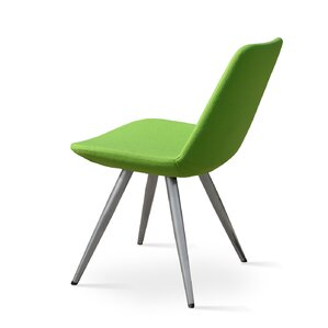 Eiffel Star Genuine Leather Upholstered Dining Chair in Green Leatherette by sohoConcept