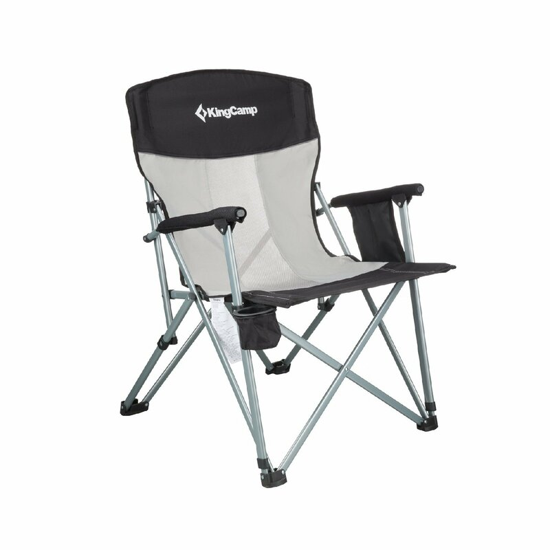 f1ecfff096ef Kingcamp Mesh Back Folding Camping Chair | Wayfair