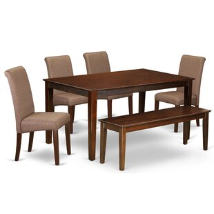Kaila Kitchen Table 6 Piece Solid Wood Dining Set