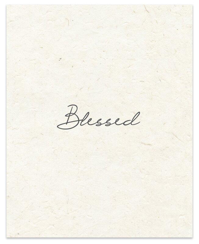 «Bienheureux» par Terri Ellis Art textuel du bronzage
