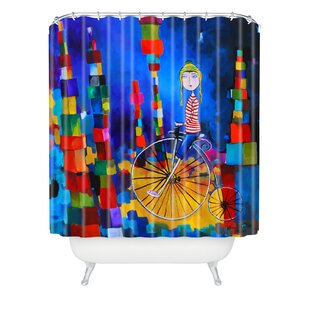 Robin Faye Gates Out Of Bounds Extra Long Shower Curtain By Deny Designs