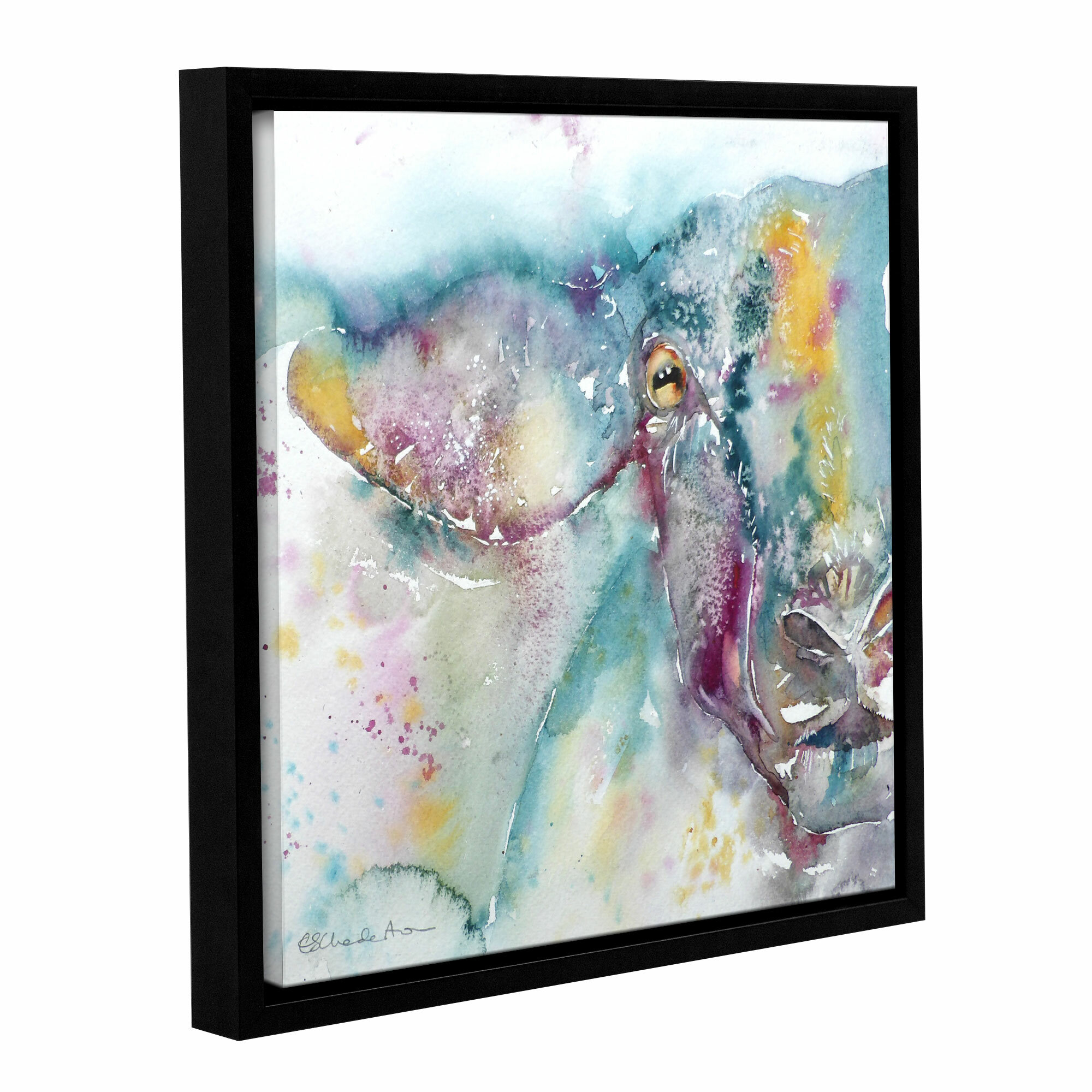 Latitude Run Sheep 3 Framed Painting Print Wayfair