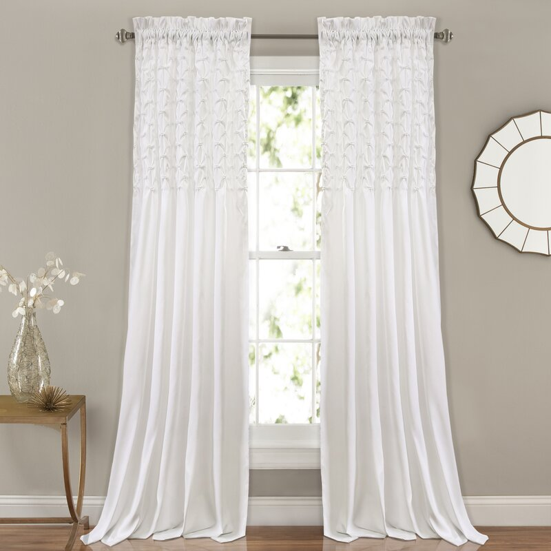 Elzira solid semi sheer thermal rod pocket curtain panels reviews birch lane for Thermal windows reviews
