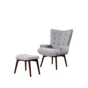 Villeda Wingback Chair And Ottoman
