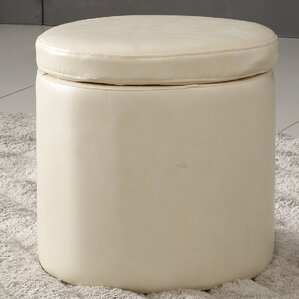 Castillian Storage Leather Ottoman by NOYA USA