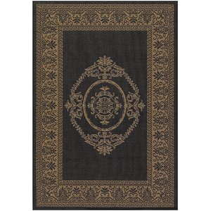 Celia Black/Brown Indoor/Outdoor Area Rug