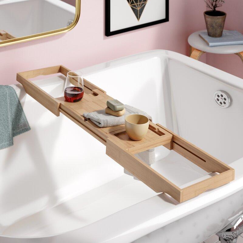 e2d8d13b4 The Twillery Co. Eshleman Bamboo Bathtub Caddy & Reviews | Wayfair