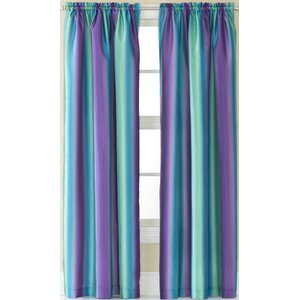 Darrius Striped Sheer Rod Pocket Single Curtain Panel