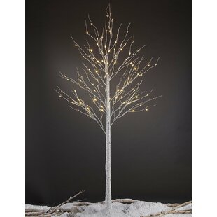 Led Pre Lit 132 Light Birch Tree