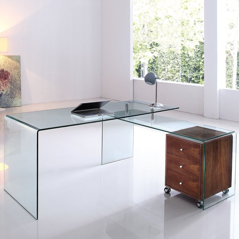frame office clear furniture new ebay versatile top desk itm computer glass home metal