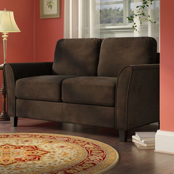Charlton Home Patricia Curved Arm Loveseat Amp Reviews Wayfair
