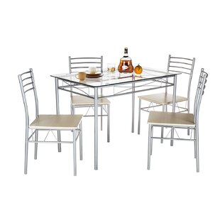 Liles 5 Piece Breakfast Nook Dining Set Best Design