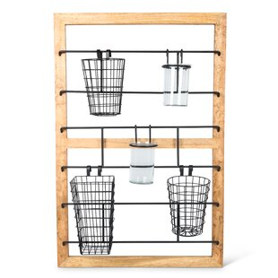 Debolt Hanging Wall Storage Organizer With Basket