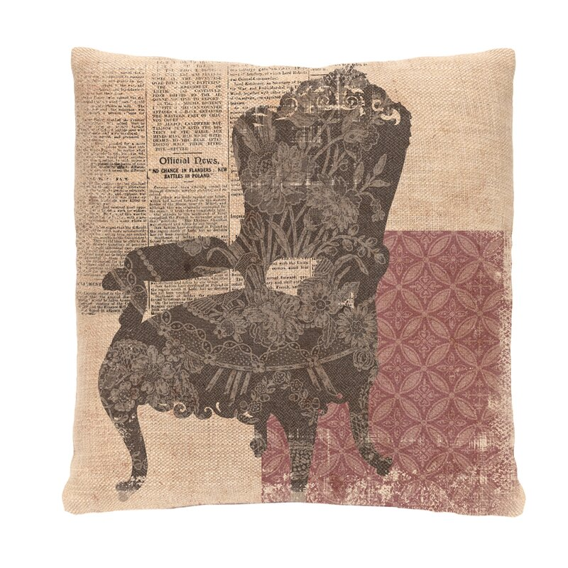 Heritage Lace Silhouettes Queen Anne Chair Pillow Cover Wayfair