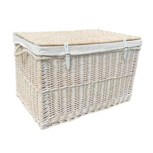 Beau Large Storage Wicker Basket With Lining