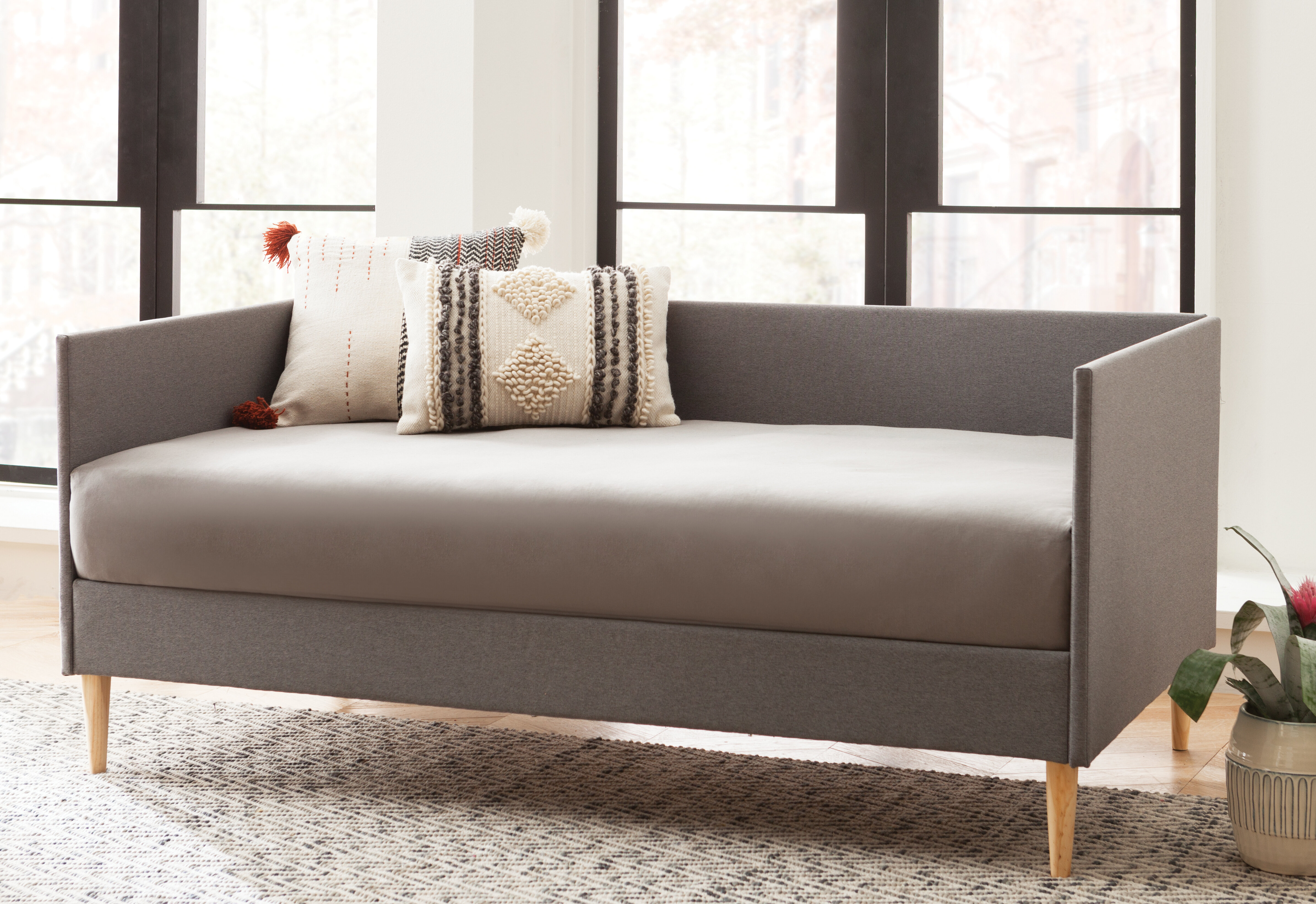 mid century daybed modern daybed langley street ahmad mid century daybed reviews wayfair