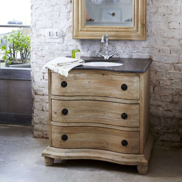tikamoon hermione solid pine 900mm free standing vanity unit