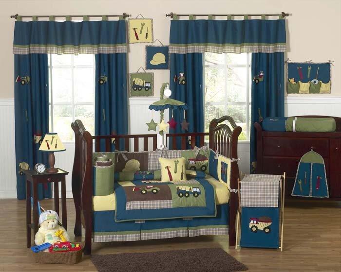 Construction Zone 9 Piece Crib Bedding Set