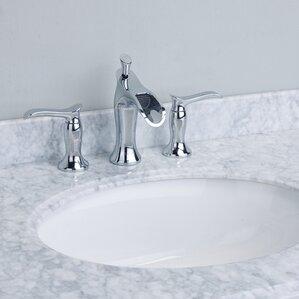 Swan® Double Handle Deck Mount Widespread Waterfall Bathroom Faucet
