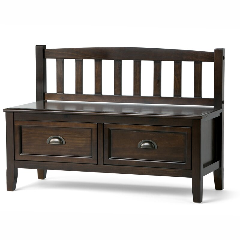 Beau Burlington Wood Storage Storage Bench