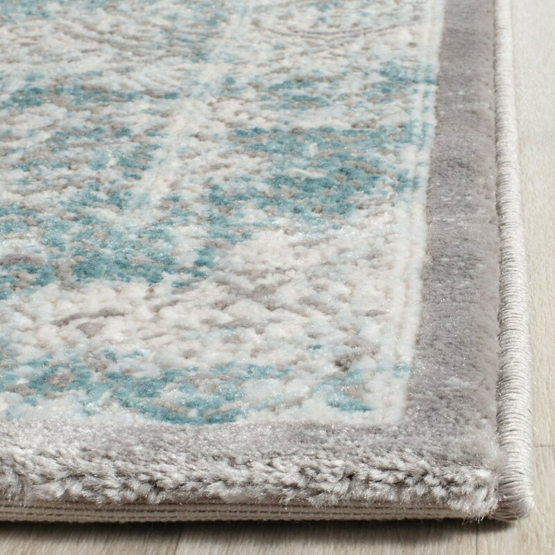 One Allium Way Auguste Turquoise/Ivory Area Rug & Reviews