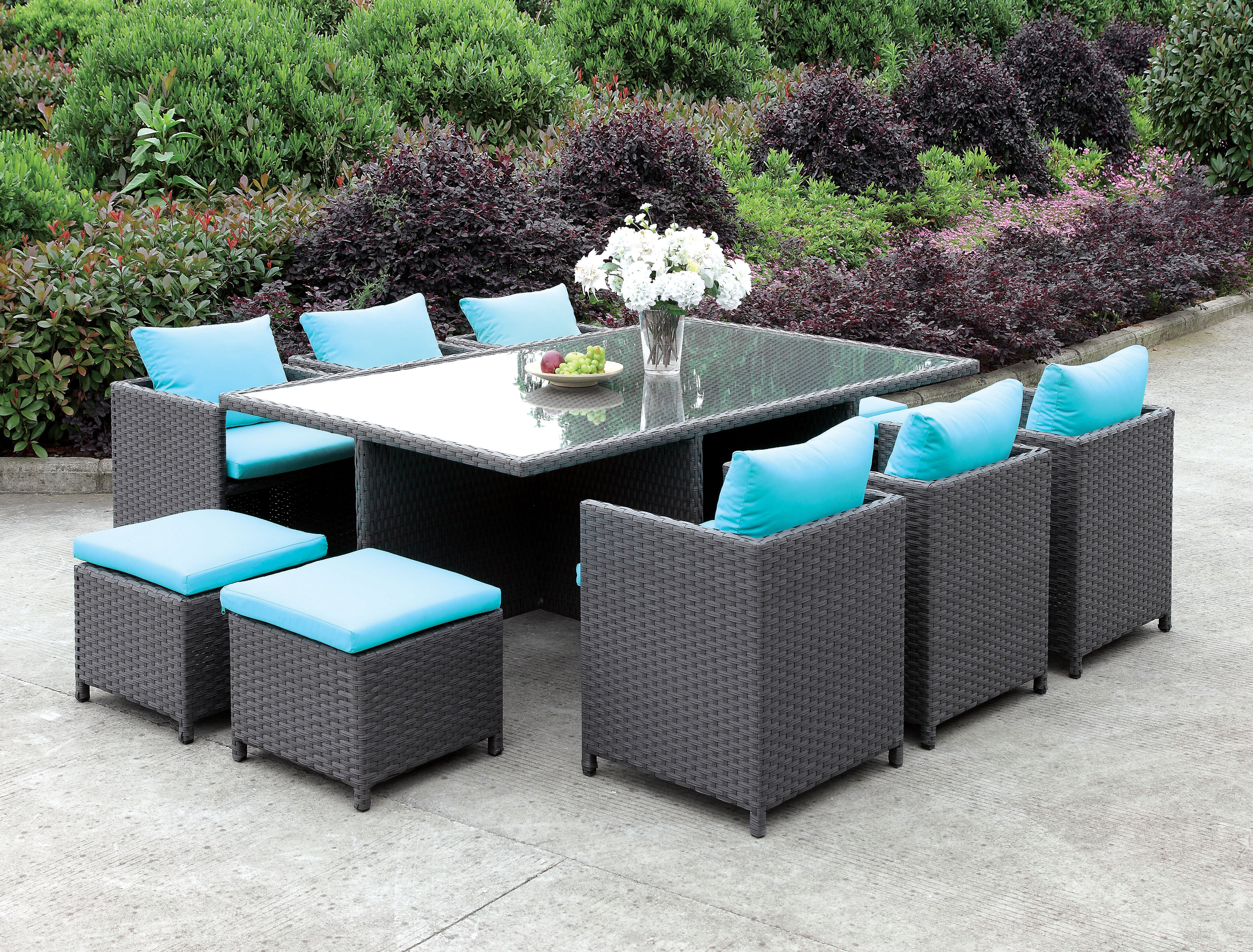 Gentil Brayden Studio Tamayo 11 Piece Dining Set With Cushions | Wayfair