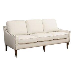 Boneta Bonded Leather Sofa by Darby Home Co