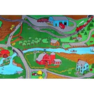 Custom Printed Indoor/Outdoor Area Rugs Farm