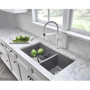36 inch undermount kitchen sink bottom mounted precis 33 kitchen sink cabinets wayfair