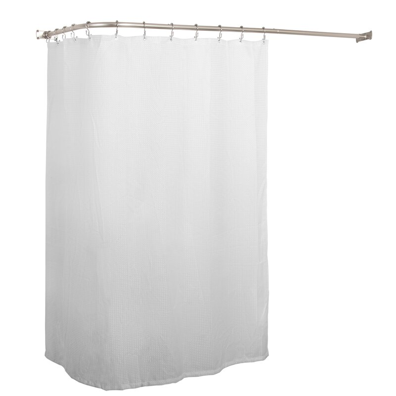 UtopiaAlley Aluminum Rustproof 66 L Shaped Fixed Shower Curtain Rod Reviews