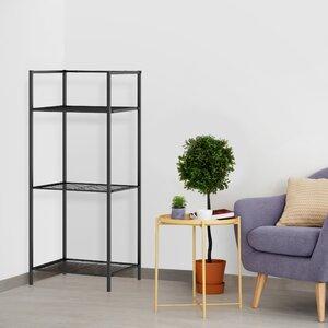 Hera 3 Shelf Metal Standard Bookcase