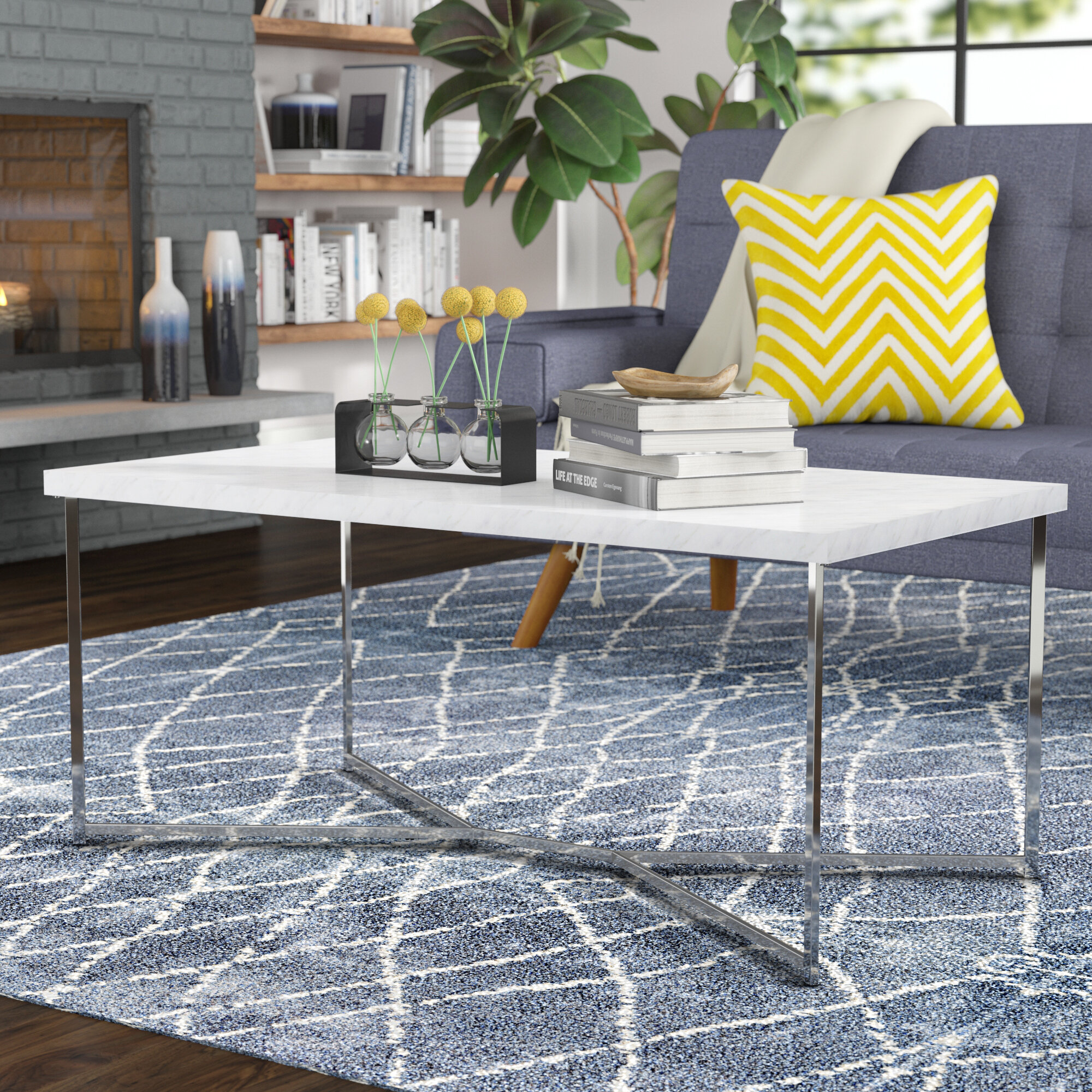 Rectangle Mirrored Coffee Tables You Ll Love Wayfair Ca