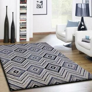 Gagliano Shag Hand Tufted Black/White Indoor Area Rug
