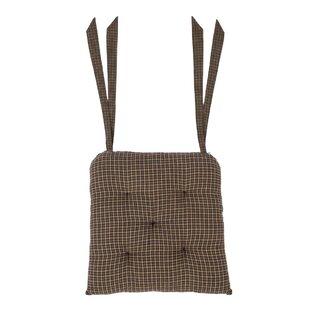 Plaid Cotton Dining Chair Cushion