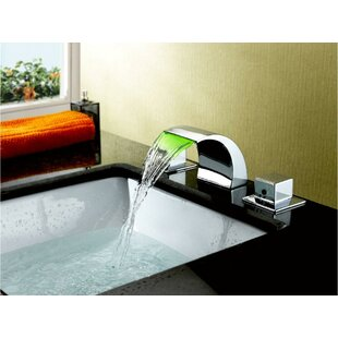 Widespread LED Waterfall Bathroom Sink Faucet