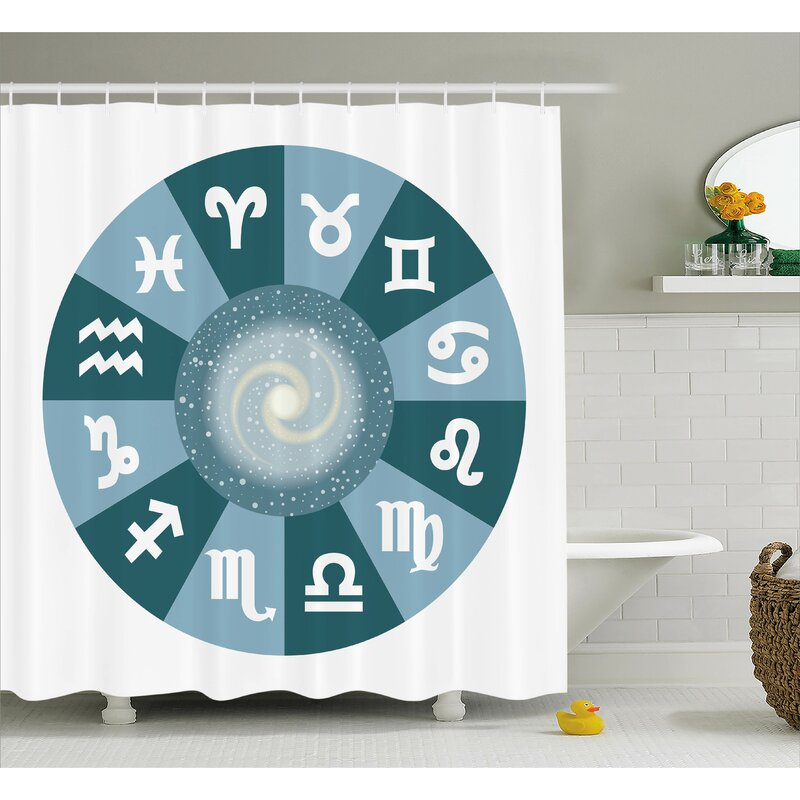 Alexi Zodiac Universe Signs Shower Curtain