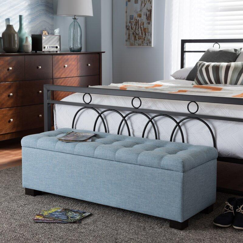 Latitude Run Kareem Upholstered Storage Bench & Reviews ...